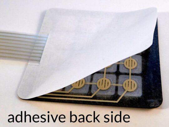 4 x 4 Matrix Array Foil Keypad adhesive back