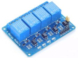 4 Relay Module Shield 10A with Opto Inputs 3-24V