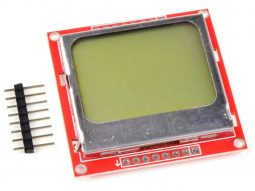 Nokia 5110 serial LCD screen 84 x 48 for Arduino Atmel PIC Raspberry