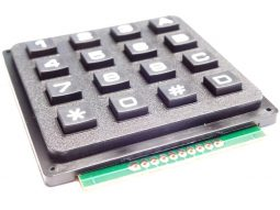 4×4 Array Matrix Keypad – Tactile Hard Keys – Black Plastic