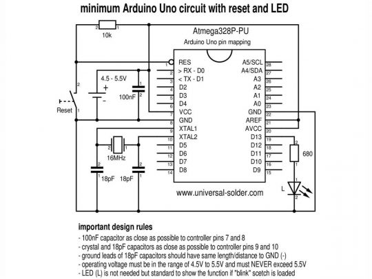 Arduino Bread Board 400 Starter Kit Atmega328P