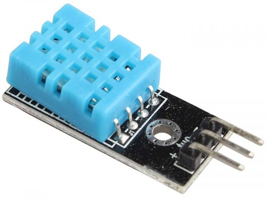 DHT11 Temperature Humidity Sensor 16bit digital and Arduino library