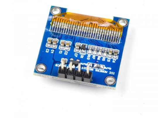 OLED 128×64 Pixel, I2C, 0.96 inch, SSD1306 SH1106, Arduino Library, 3-5V