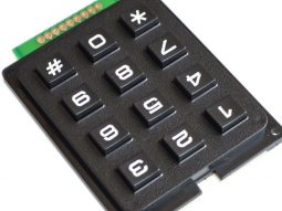 3×4 Array Matrix Keypad, hard keys, black, Arduino etc.