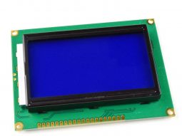 LCD12864 128×64 Graphic Display, blue/white, ST7920