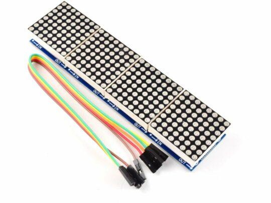 8×8 64-Dot-Matrix, Red, 4 Module Cluster, Arduino Library