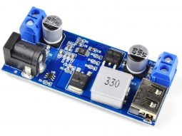 DC-DC Converter 5V 5A Output from 9-36V Input – Screw Terminals and USB Output