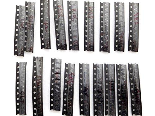 180 pcs Ultimate Mini Transistor Kit SOT-23, 18 different types