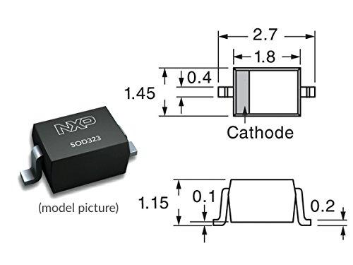 150 pcs SMD Zener Diodes SOD-323 Kit 3V-24V 0.25W
