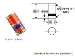 300 pcs SMD Zener Diodes Kit LL-34 Mini Melf 3V-24V 0.5W