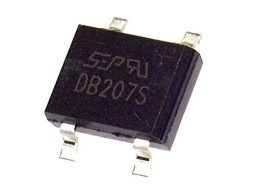10 pcs SMD Rectifier DB207S 2A, 1000V SOP Package