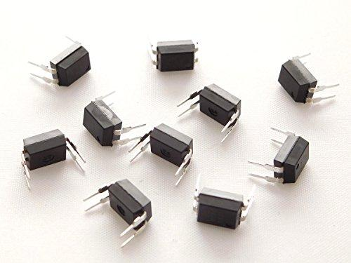10 pcs PC817C Optocoupler Photocoupler, DIP-4, 20mA, CTR: 200-400