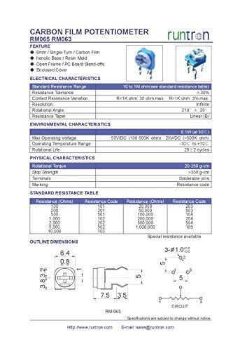 65 pcs Trimmer Potentiometer Kit RM063