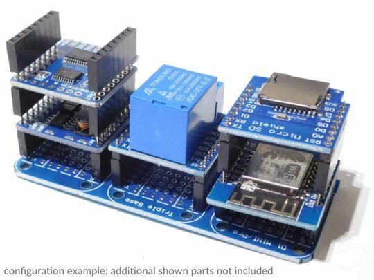 WEMOS D1 Mini compatible ESP8266 Tripler Base