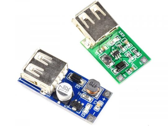 2 x DC-DC Boost Converter from Single Cell 0.9-3.7V input to 5V USB output