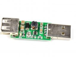 DC-DC boost converter 3-6V to 6-15V, 7W, USB port