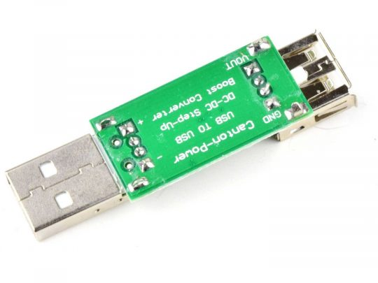 DC-DC boost converter 3-6V to 6-15V, 7W, USB port