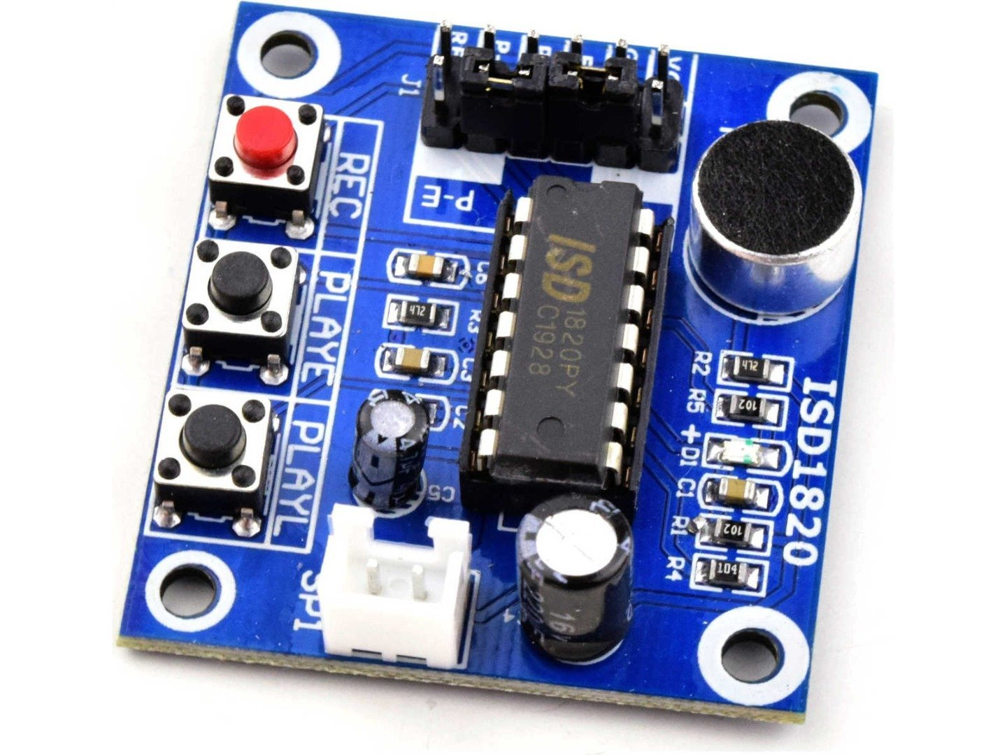 Voice Recording Module 10 s, ISD1820, Mic and Speaker