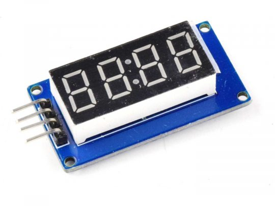 4-digit LED 7-segment display, serial interface, TM1637