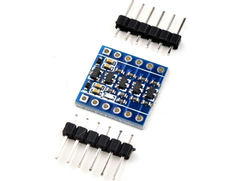 4-Channel Level Converter 3.3V-5V with on-board 3.3V LDO