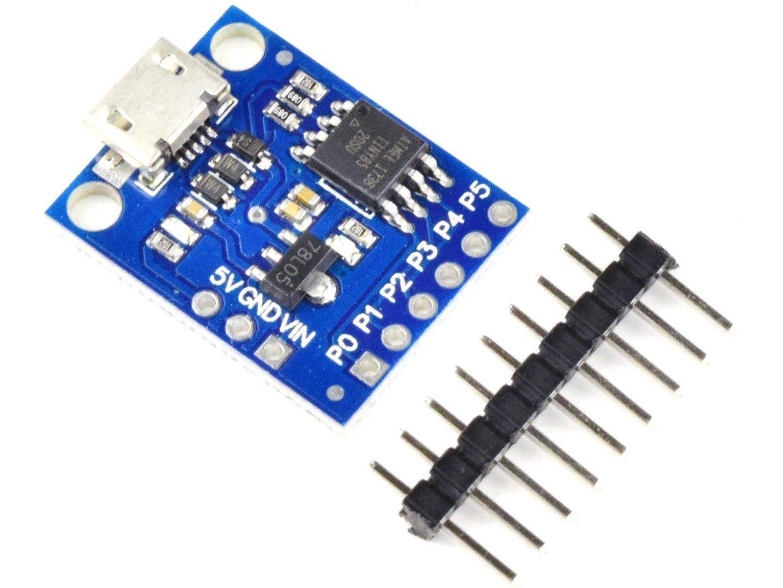 Attiny85 development module with micro-USB (100% compatible with Arduino)