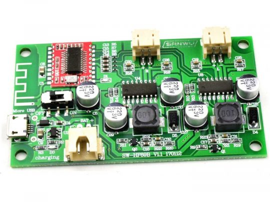 2 x 6 Watt Class-D Bluetooth Stereo Amplifier with 3.7V Battery Charger