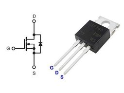 5 x IRF740 N-Channel Power MOSFET TO-220 package, 400V, 10A