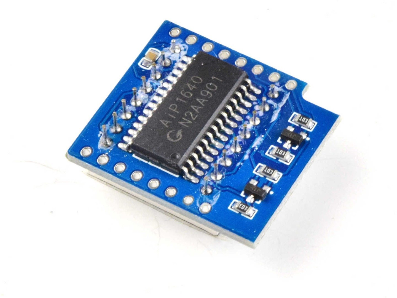 Wemos D1 Mini ESP8266 8×8 LED Matrix Shield TMP1640