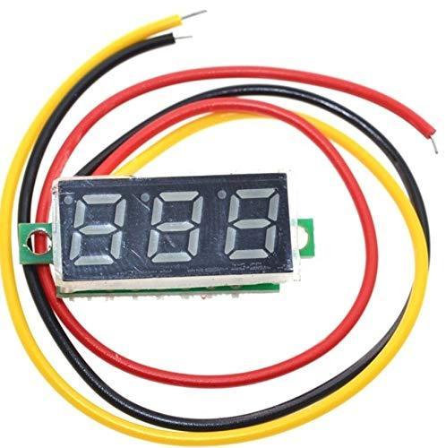 Digital LED Voltmeter (green) 3-Digit 100VDC 7mm