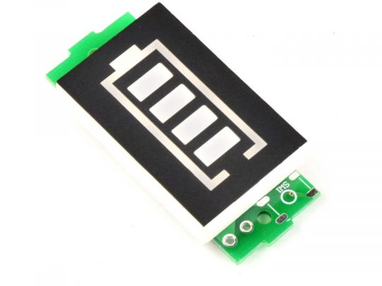 Lithium Battery Level Gauge for 1 Cell 3.7V Battery – Display colour GREEN