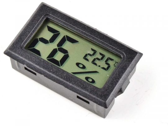 Mini LCD Hygro Thermometer Panel Mount Battery operated