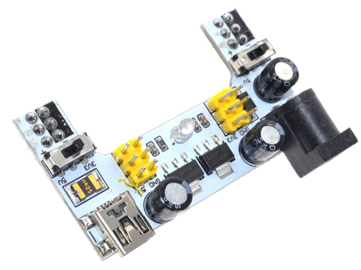 Breadboard Power Supply Module 3.3V and 5V – New Version