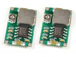 2 Pcs. Super Mini DC-DC Converter 1-17V 3A, 11 x 17mm
