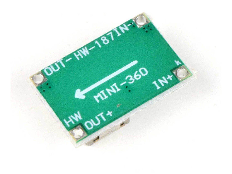 2 Pcs. Super Mini DC-DC Converter 1-17V 3A, 11 x 17mm