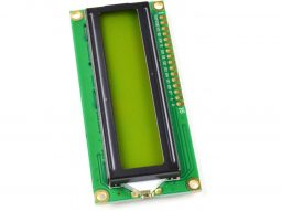 Green-Yellow LCD 1602 2×16 Character, parallel or I2C