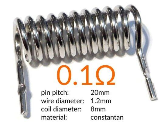 Set of 3 High-Power Shunt Resistors 0.002 – 0.01 – 0.1 Ohm