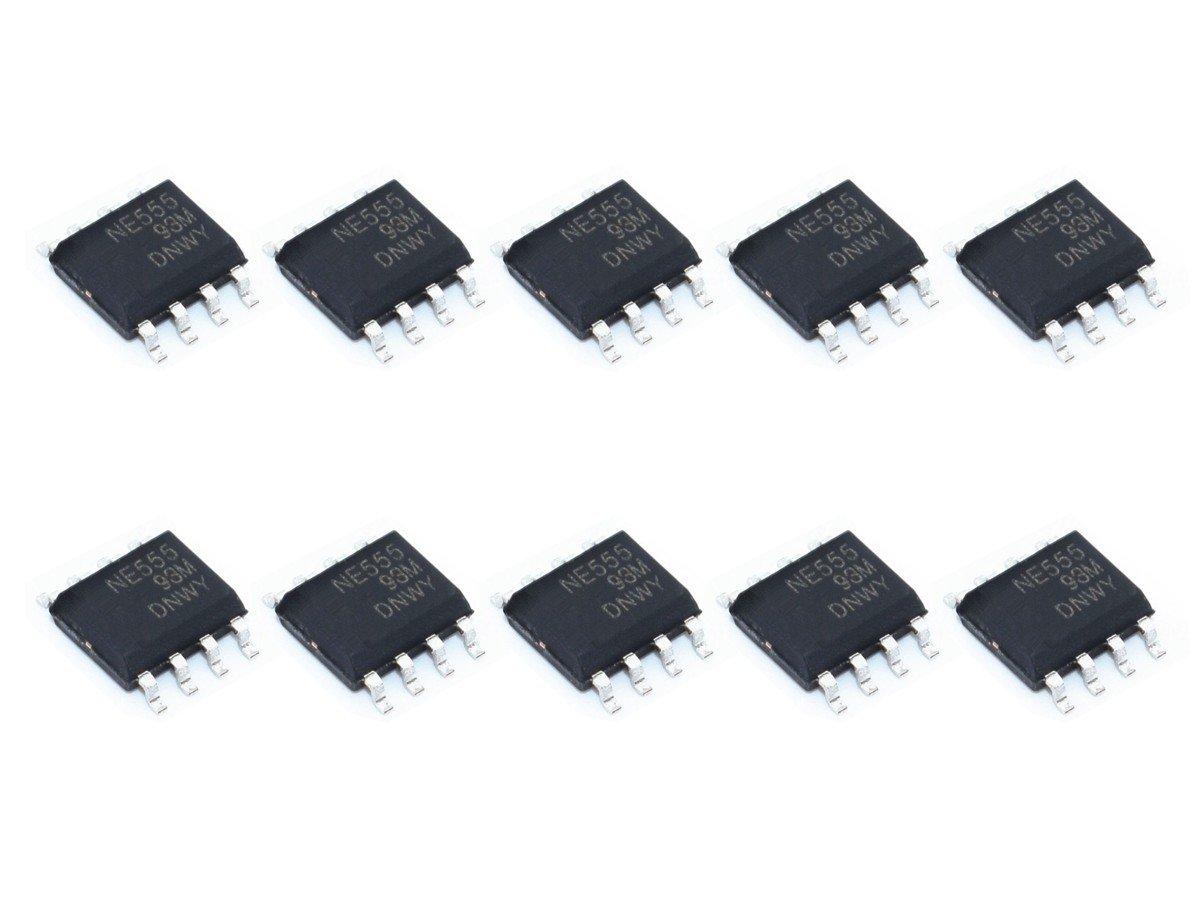 10 x NE555 SMD SOP8 Timer, Pulse Generation, Oscillator IC, 5-15V
