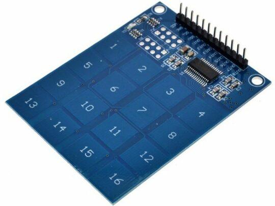 16 Key Touch Sensor Module Keypad 2.4-5.5V for Arduino etc.