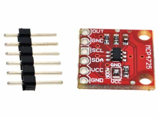 MCP4725 digital-analog-converter DAC 12 Bit I2C interface Arduino etc.