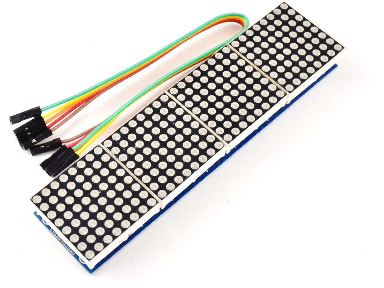 8×8 (Blue) 64-Dot-Matrix MAX7219, 4 Modules, cascadable
