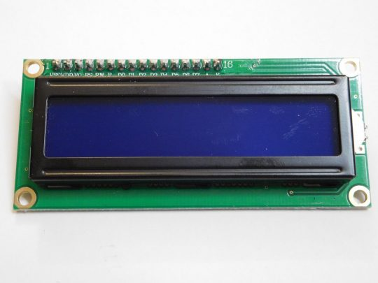 BLUE LCD 1602 2×16 Character Matrix, Back Light, I2C Interface (option)