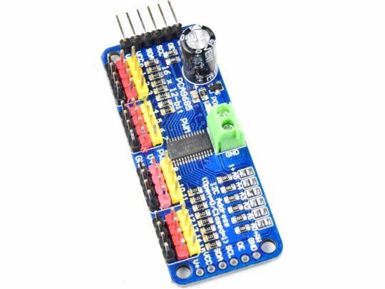 16-Channel 12-bit PWM/Servo Driver – I2C interface – PCA9685