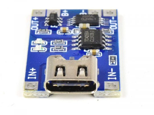 3.7V Li-Ion Lithium Charger 1A Charge – 3A Output – Protection – USB-C