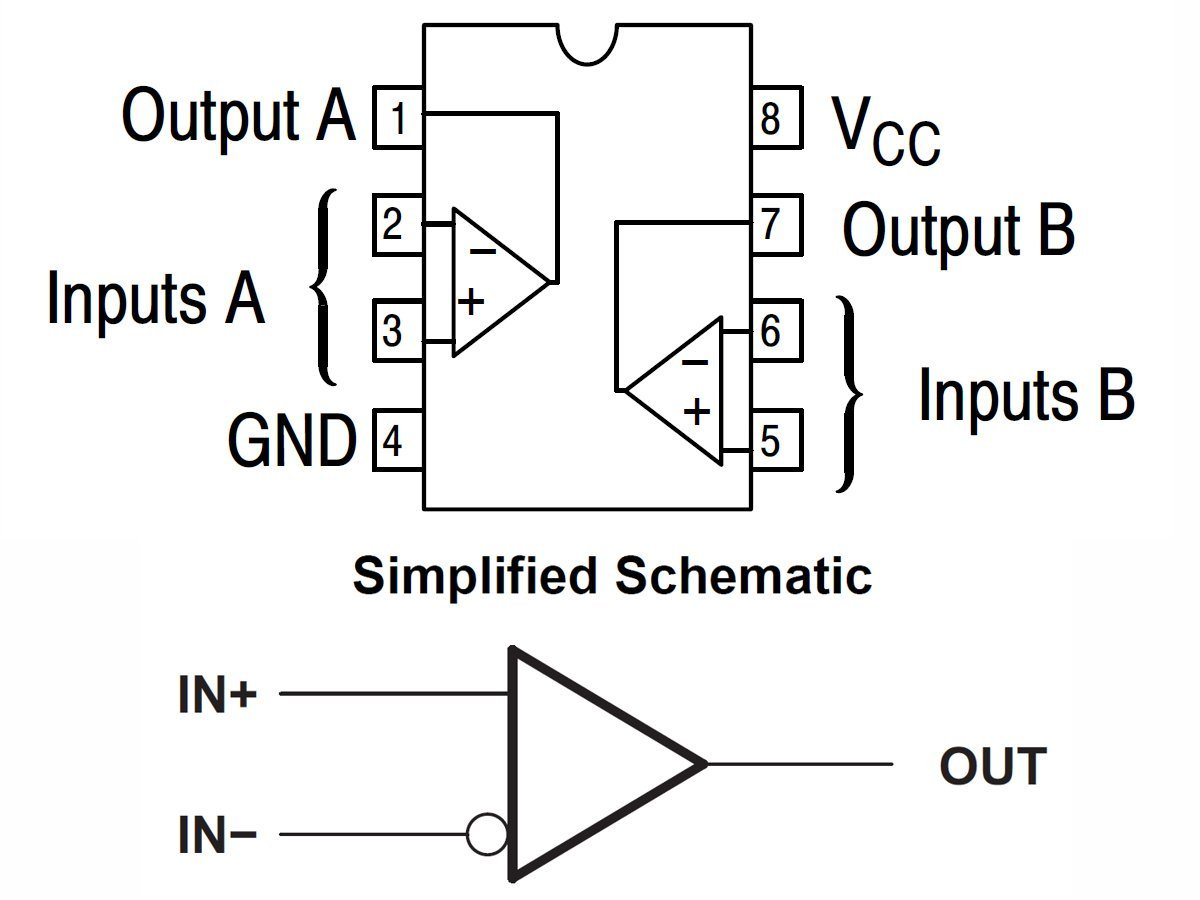 10 x lm393 dual differential comparator ic in dip