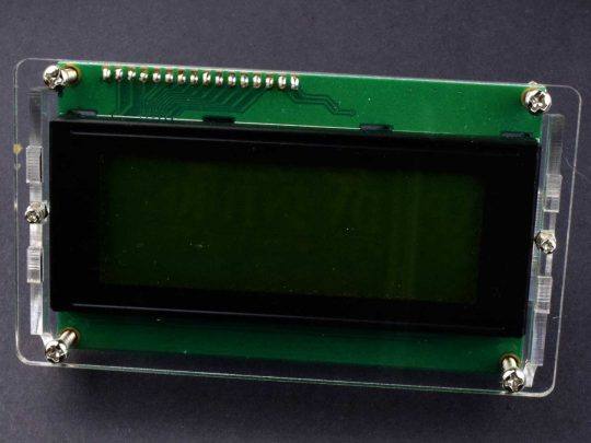 LCD 2004 4×20 Display Acrylic LCD Enclosure – fits LCD with I2C Adapter as well