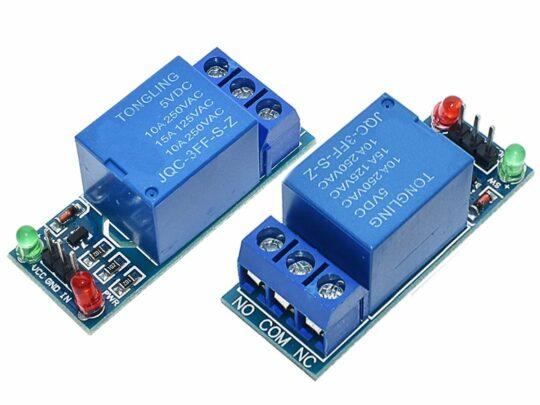 2 x Relay Board Single 10A / 250V for microcontroller 5V logic level