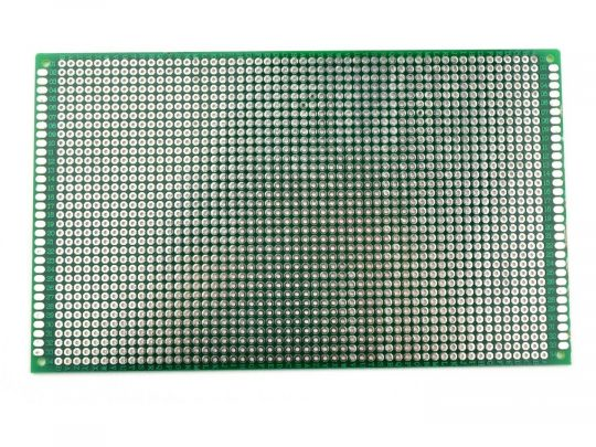 Double Sided Perforated Prototyping PCB 90 x 150 mm
