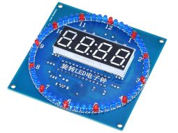 LED Clock Electronics Project with Alarm Temperature – Light Effects