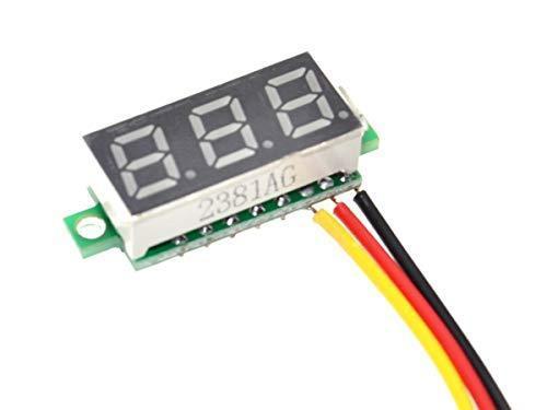 Digital LED Voltmeter 3-Digit (red) 100VDC – Power Supply 4.5 to 30V