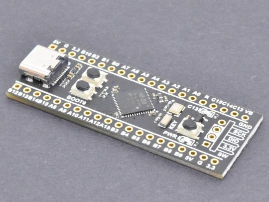 3 x STM32 Black Pill STM32F411CEU6 – 100MHz – 512kB Flash – 128kB RAM – Assembled – Tested